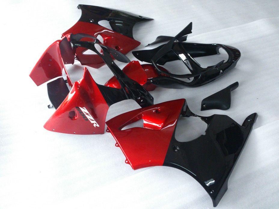 Fairings seti + 7 Kawasaki için hediyeler ZZR600 2005 2006 2007 2008 ZZR-600 05 06 07 08 ZX600J kırmızı siyah tam kaporta kitleri DA12