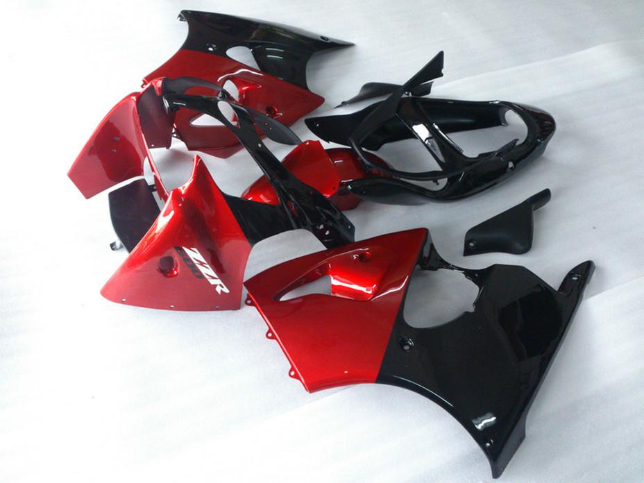 Set de carenados + 7 regalos para Kawasaki ZZR600 2005 2006 2007 2008 ZZR-600 05 06 07 08 ZX600J kits de cuerpo completo carenado rojo negro DA12