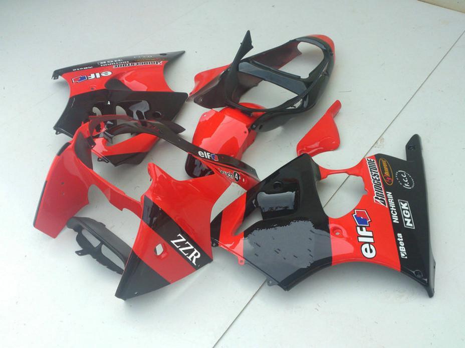Red de carenados esquema de MotoGP negro establecidos para Kawasaki ZZR600 2005 2006 2007 2008 ZZR600 05 06 07 08 ZX600J carenado kits de cuerpo DS32