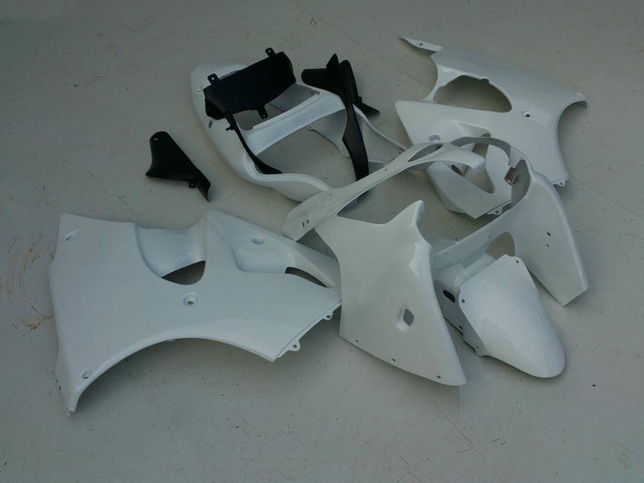 All glossy whtie DIY Fairings kit for Kawasaki ZZR600 2005 2006 2007 2008 ZZR-600 05 06 07 08 ZX600J ninja fairing body kits V5