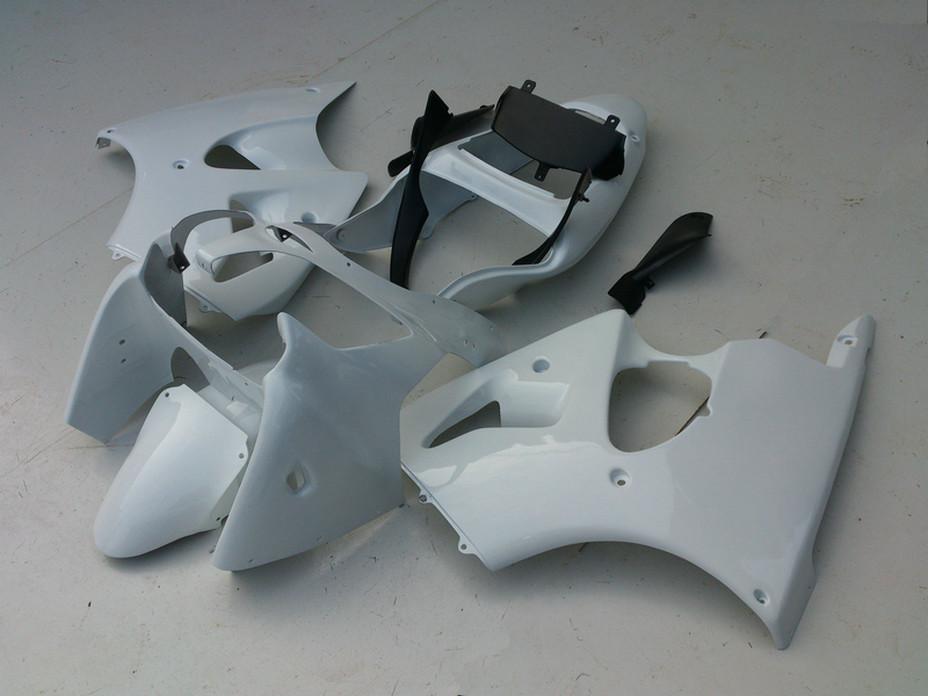 Alle glänzend whtie DIY Fairings Kit für Kawasaki ZZR600 2005 2006 2007 2008 ZZR600 05 06 07 08 ZX600J Ninja Verkleidung Bodykits V5