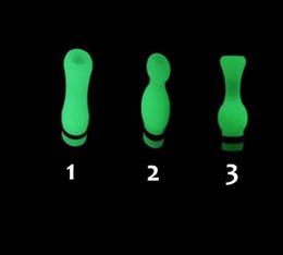 Glow atomizer online shopping - Glow In The Dark Contoured Drip Tips Noctilucent Luminous Mouthpiece Drip Tip for Thread series Atomizer Cartomizer