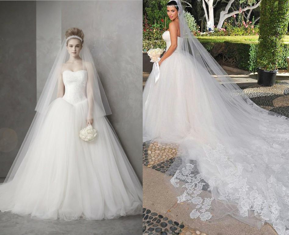 Dhgate Wedding Gowns: Celebrity Wedding Dress Luxury Hot Sale Actual Images