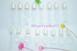 Wholesale Crystal White Glass 6mm - 100 Wholesale Big Mix Glass bottles * pendant vials * perfume pendants * Name on Rice Jewelry findings Charms Name on Rice 6mm Silver plated