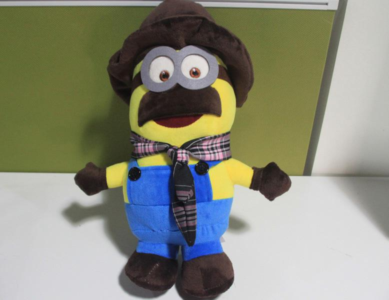 2018 14inches Despicable Me 2 Minion With Mustache Hat Scarf Dolls Plush  Toys Boneca Pelucia Brinquedos From Kate And Kevin, $13.97 | Dhgate.Com