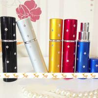 Wholesale Toilette Perfume - Cheap Aluminum Cover 10ml Perfume Sprayer Color Refillable Perfume Fragrance Bottle Containers Atomizer for Eau De Toilette 10pcs lot ZH1251