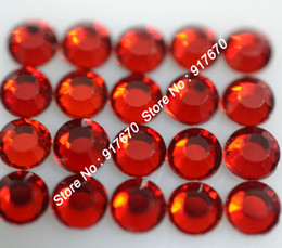 Red Flat Led Canada - 1440pcs pack CPAM SS20 iron on korean Lt Siam strass rhinestone lead free hotfix flat back stone for wedding dress nail art trim