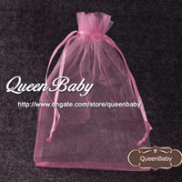Wholesale Wholesale Cosmetic Bags Accessories - Organza pocket Organza Cosmetic Gift Bag Pocket Baby Headband Gift Packet Hair Accessory 100pcs lot QueenBaby