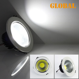Wholesale 7w Led Down - Retail led COB ceiling lights LED COB Bulb 5W 7W 9W 12W LED Down Lamp 85V-265V High Brightness Cool White Warm White 2014 New Arrival