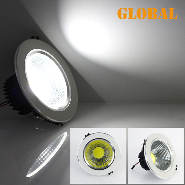 top popular Retail led COB ceiling lights LED COB Bulb 5W 7W 9W 12W LED Down Lamp 85V-265V High Brightness Cool White Warm White 2014 New Arrival 2019