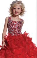 çiçek elbisesi elbisesi toptan satış-Moda PROM elbise boncuklu payetli yarışmasında elbise hem prenses çiçek çocuk giyim özelleştirme 2 4 6 8 10 12 14