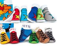 meias menino chinelo sapatos venda por atacado-Unisex bebê crianças criança bebê barco meias menina menino anti-derrapante meias sapatos chinelo yff