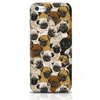 Wholesale Mobile Phone Case Dogs - Apple Iphone 5 5s 5C Covers Custom Iphone Cases High Quality Colorful Digital Printing Cute White Black Dogs Best Mobile Phone Protectors