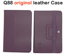 Wholesale Original inch Leather Case Cover for Q88 Q88H Allwinner A13 A20 A23 Flytouch Dual Camera Android Tablet PC MID quot