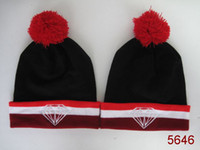 Bonnet Blanc Pas Cher-New Arrival 1PCS Red-Black-White Diamond Supply Co Beanie Chapeaux en laine tricotée Bonnets chauds d'hiver Boys and Girl Knitting beanies skull caps