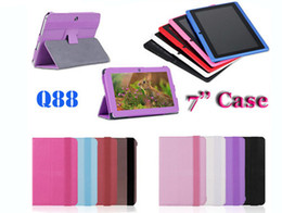 Wholesale Android Allwinner A13 - Original Colorful 7 inch Leather Case Cover With Stand Holder for Q88 Q88H Allwinner A13 A20 A23 VIA8880 Dual Camera Android Tablet PC MID