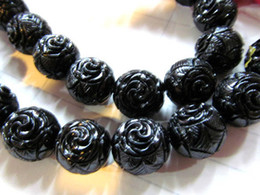 Wholesale Blue Black Red Green Connector - 15%off--8-25mm full strand resin plastic gergous round ball carved black jet white red green blue purple mixed color connector bead