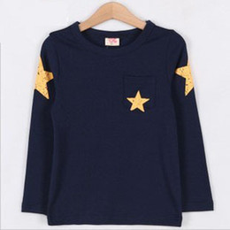 Chinese  Full Slevee Children Clothing,Baby Boys Autumn Winter Tshirts,Five-Pointed Star Kids Tops,Free Shipping TX-1551 manufacturers