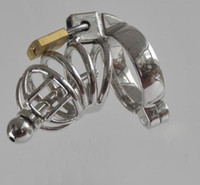 Wholesale sm toy catheter resale online - Male Chastity Cage Urethral Catheter Stainless Steel Chastity Belt Bondage Fetish SM Sex Toys Art Cage Device