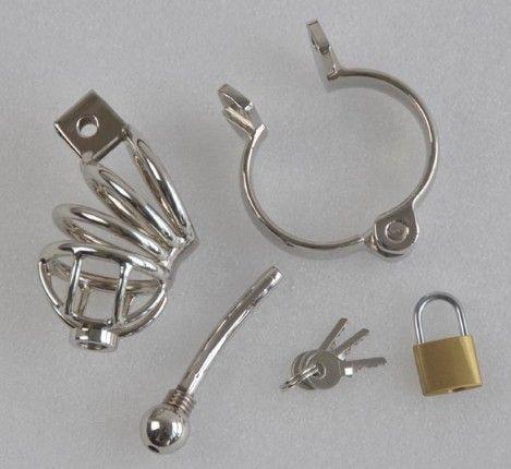 Male Chastity Cage Urethral Catheter Stainless Steel Chastity Belt Bondage Fetish SM Sex Toys Art Cage Device