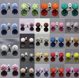 Wholesale Disco Balls Bracelet - New Style!10mm Mixed 20 Color In Random MSB disco Ball Beads Bangles FRDG Women Men Crystal Shamballa Bracelet jewelry wholesale