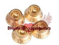 Wholesale Lps Golden - 4Pcs Golden Acrylic Speed Knobs Volume Tone Control for LP Electric Guitar K5BO