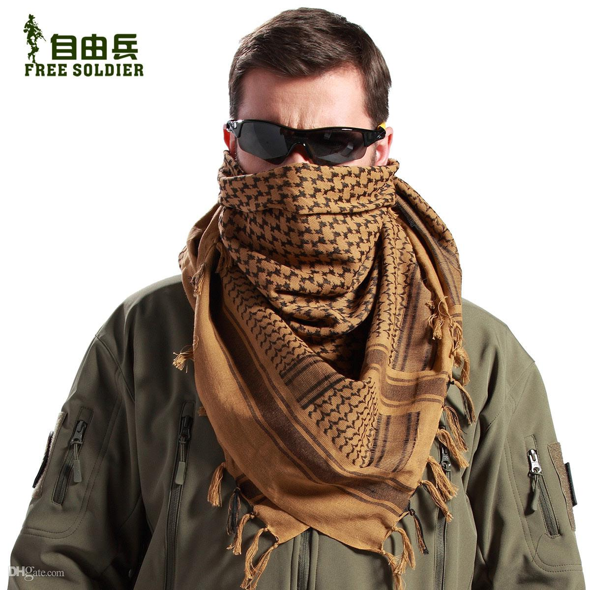 Free Soldier Arab Scarf 100% Cotton Amry Tactical Army Scarves Men  Classical Warm Square Scarf UK 2019 From Aprillan 403851060d5