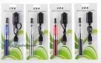 Cheap Colorful 650/900 / 1100mAh eGo CE4 Atomizer Cigarette électronique, CE4 Electronic Cigarette Blister Kits Pack 1.6ml 2.4OHM E-cigarette