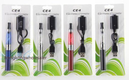 Wholesale Cheap Ego Ce4 Blister Pack - Cheap Colorful 650 900 1100mAh eGo CE4 Atomizer Electronic Cigarette, CE4 Electronic Cigarette Blister Kits Pack 1.6ml 2.4OHM E-cigarette