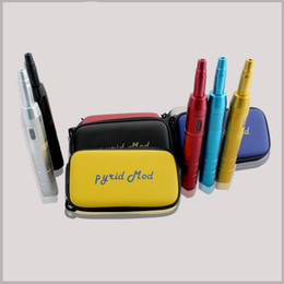 Wholesale Ego Battery Mod Stainless Steel - 2014 Pyzid Mod e-cig kit Electronic Cigarette with 5 Colors Stainless steel Mod fit 18350 18650 Battery ego Zipper Case DHL free shipping