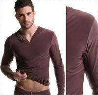 Wholesale Silk Fabric Shirts - men's sleep tops fashion silk fabric satin comfortable Man pajamas homewear family casual yaga clothes long sleeve bathrobe jams