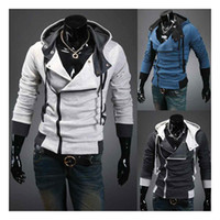 Wholesale Korean Fashion Cardigan Men - S5Q New Fashion Korean Men's Slim Hooded cardigan Coat Jacket AAACLA