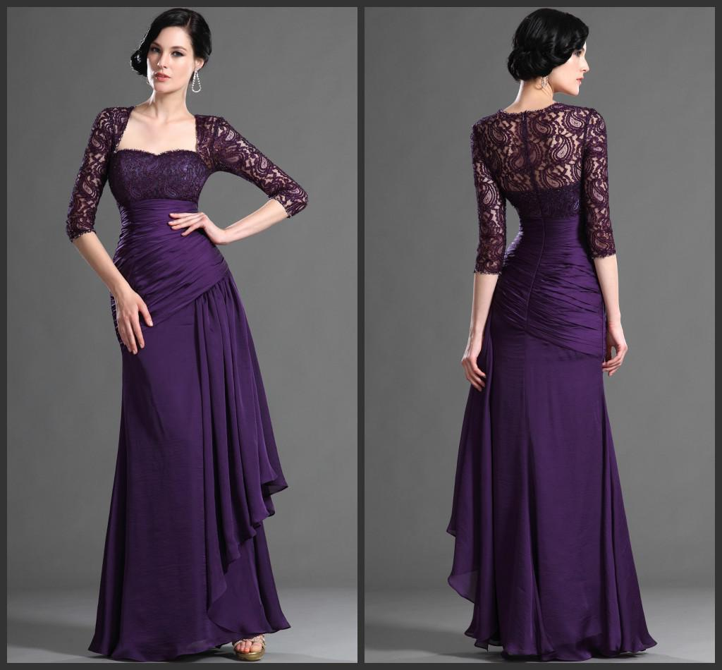 2014 Long Sleeve Lace Mother Of The Bride Dresses With Jacket ...