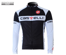 Wholesale Cycling Jersey Black White - Vintage Cycling Jerseys Long Sleeve Invisible Zipper Enhances Mountain Bikes Cycling Jackets Breathable Microfiber Farbric Bikes Clothings