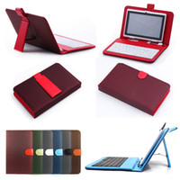 Wholesale Android A13 Keyboard - FedEx Free Mesh PU Leather Standard USB 2.0 Micro USB Keyboard Cover Stand Case For 7 inch Tablet Android PC MID Q88 A13 8850 A20 A23
