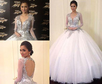 Wholesale Star Beaded Dresses - Kim Chiu at Star Magic Ball 2013 with Deep V Backless Ball Gown Beaded and Sheer Long Sleeves Fabric Celebrity Dresses Dhyz 01