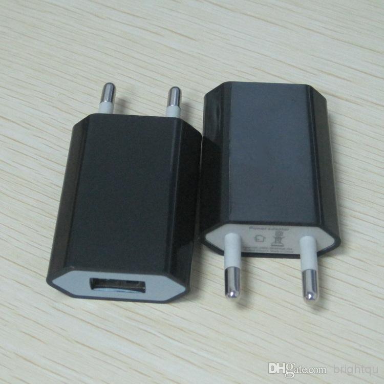 고품질 다채로운 10 색깔 EU 미국 USB 벽 가정 충전기 1000mA USB 접합기 iphone 5s 4s 5c Iphone4 android cell phone