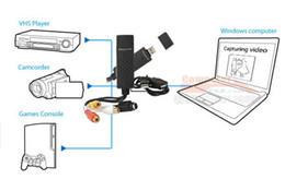 Nieuwe Easycap USB 2.0 TV DVD VHS Video Audio Av Capture Empia2860 Chipset