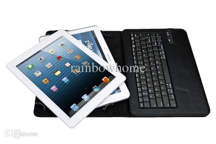 Funda de cuero de la PU del teclado de Bluetooth inalámbrico extraíble universal para 7 8 9 10 pulgadas Superficie Android iPad Tablet PC Galaxy Tab