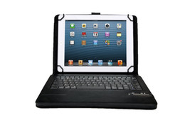 Universal Bluetooth China Canada - Removable Wireless Bluetooth Keyboard PU Leather Case for 7 8 9 10 inch Windows Surface Android Tablet PC Galaxy Tab Universal
