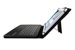 Universal Bluetooth China Canada - Removable Wireless Bluetooth Keyboard PU Leather Case for 7 8 9 10 inch iPad Windows Surface Android Tablet PC Galaxy Tab Holder Universal