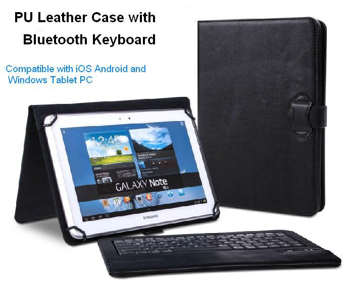 Universal Removable Wireless Bluetooth Keyboard PU Leather Case for 7 8 9 10 inch Surface Android iPad Tablet PC Galaxy Tab