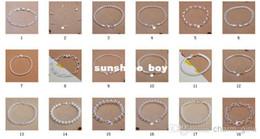 bracelets mixtes argentés Promotion 2014Wholesale - Ventes chaudes Mixte 18 Styles 20pcs / lot 8