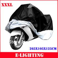 125 bicicleta al por mayor-XXXL 265 * 105 * 125 cm Cubierta de almacenamiento del polvo de la motocicleta para Harley Road King Electra Road Glide Touringg