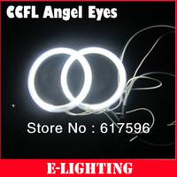 carro universal do olho da águia venda por atacado-Universal Fit 80mm Angel Eyes Kit CCFL com 2 anéis de halo e 1 inversor para carro e moto olho de águia