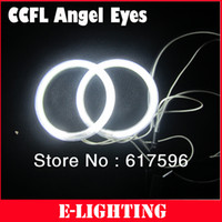 ring chrom auto großhandel-Universal Fit 80mm CCFL Angel Eyes Kit mit 2 Halo Ringen und 1 Inverter für Auto und Motorrad Eagle Eye