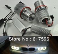 kits bmw e39 al por mayor-2X 10W Cree LED Marker Angel Eyes Kit Blanco Halo Ring para BMW E39 E60 M5 525i, 525xi, 530i, 530xi, 545i, 550i LED Angel Eyes