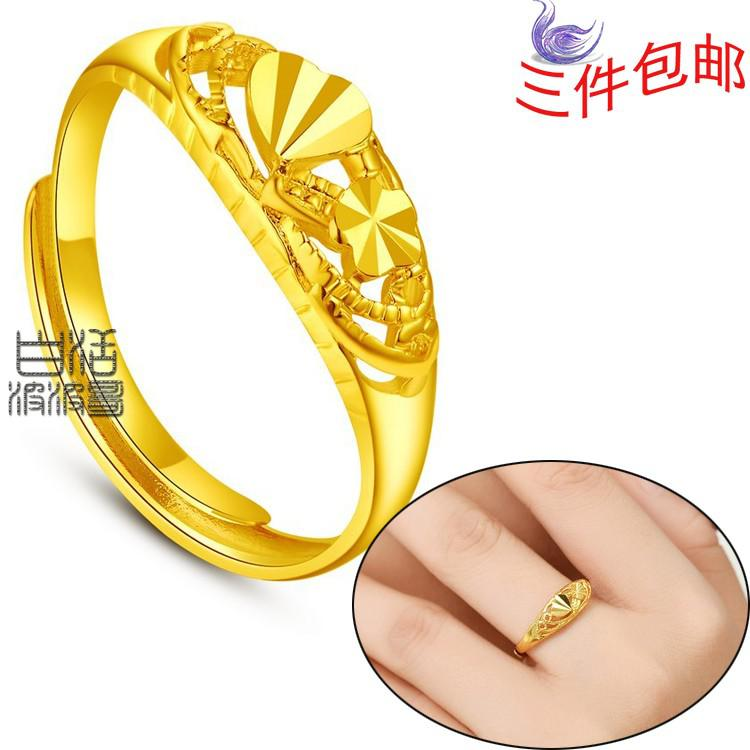 Female Models Yunnan Alluvial Gold Plated Rings Gold Rings Alluvial ...