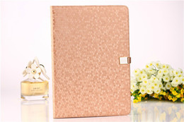 Wholesale Ipad Case Luxury Black - Luxury Bling Diamond Pattern Stand Flip Leather Case Folding Pouch Cover with Credit ID Card Slot For Apple iPad Air iPad 2 3 4 5