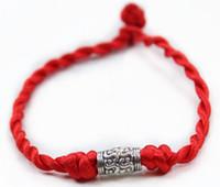 rote hochzeit armbänder großhandel-Roter Seil-Armbandcharme glückliche Armbänder, die hochwertigen Link der Qualitätsschmucksachen Wedding sind, geben Verschiffen frei
